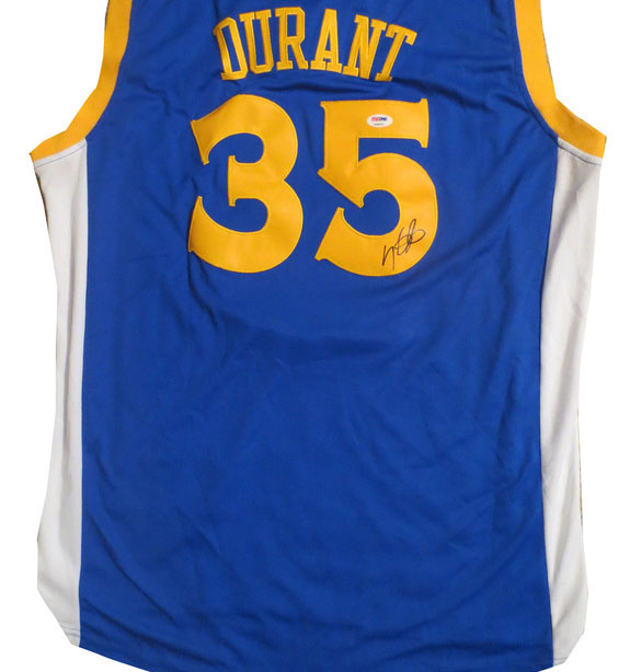 buy online cff99 ce144 Kevin Durant Autographed Warriors Signed Basketball Jersey ...