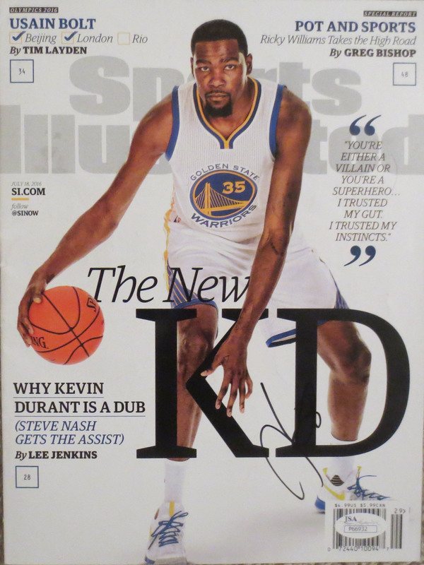 newest collection 46def ccd91 Kevin Durant Autographed Warriors Signed Sports Illustrated ...