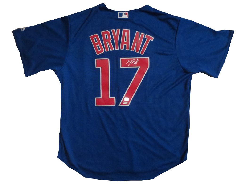 Kris Bryant Signed Cubs Blue Jersey from Powers Autographs 0c67f4259