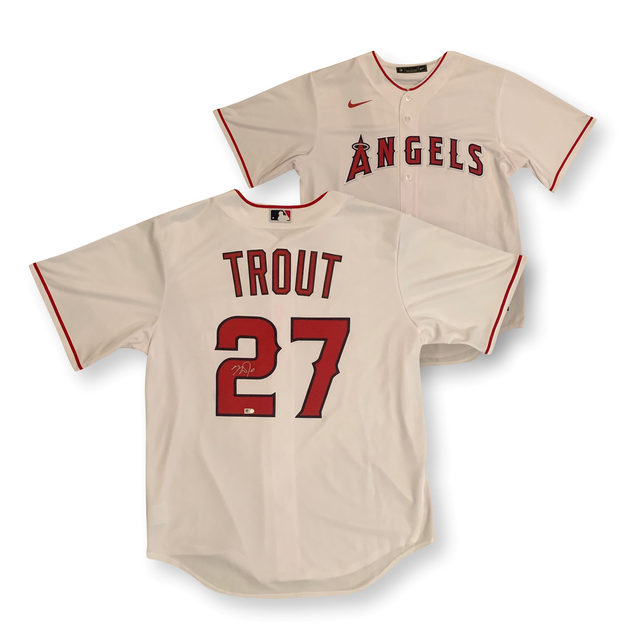 Mike Trout Autographed Los Angeles Angels Signed Official Nike Baseball Jersey MLB Authenticated COA