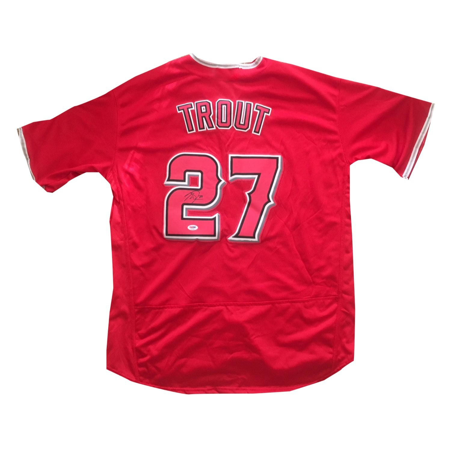 pretty nice 81af0 081ed Mike Trout Autographed Angels Signed Baseball Jersey PSA DNA COA