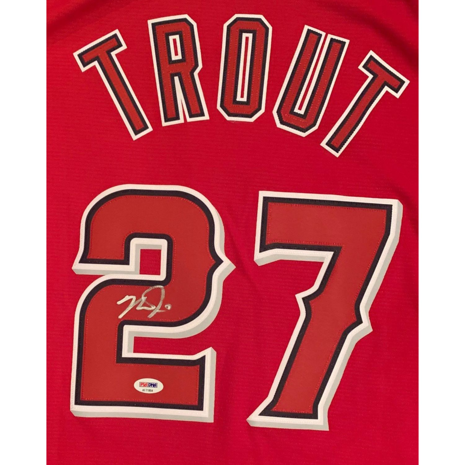 Mike Trout Autographed Los Angeles Angels Signed Baseball Jersey PSA DNA COA 4 Imagine a baseball player that had all the tools necessary to be one of the greatest players of all-time. A player that loved playing the game as much as fans loved watching him play. That player is Mike Trout. Superstar MVP of the Los Angeles Angels. Trout has won Rookie of the Year and 2 AL MVP awards. One of the most popular players in all of baseball. Trout has autographed this officially licensed Angels Majestic XL jersey, name and numbers sewn on. Autograph is authenticated by PSA/DNA, the world's leading authenticator of sports autographs. Comes with their unique sticker # fixed to the item and verified on their website. Also, comes with their certificate of authenticity with same matching #. Receive the exact item shown.