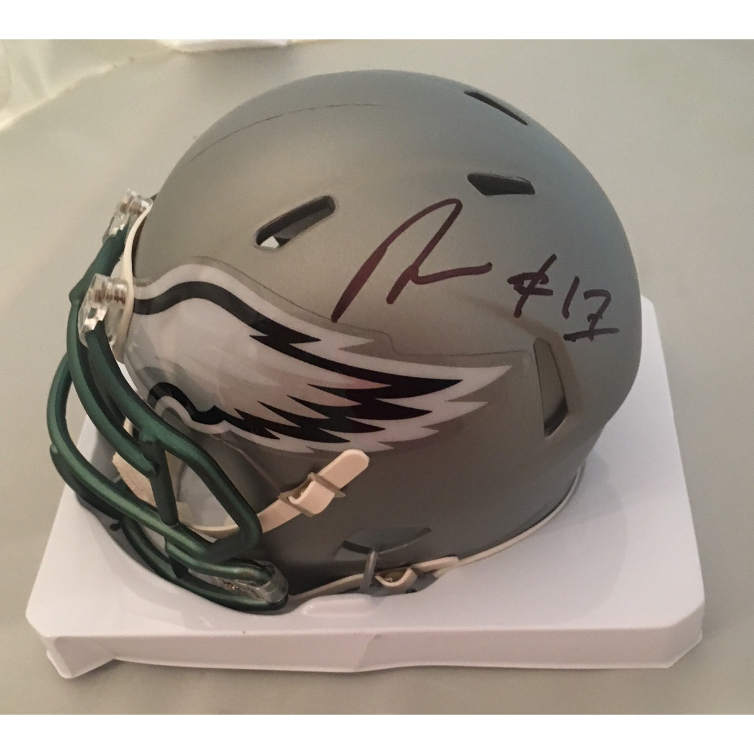 nelson agholor signed eagles mini helmet