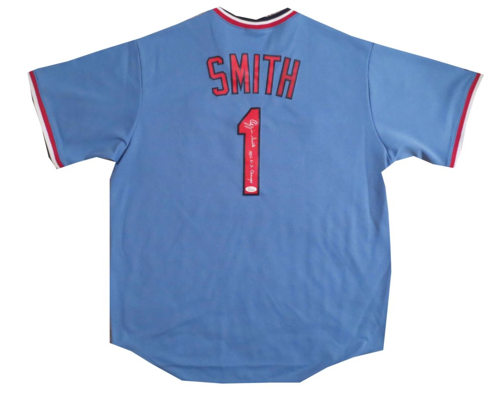 finest selection 4aeeb eca37 Ozzie Smith Signed Jersey from Powers Autographs