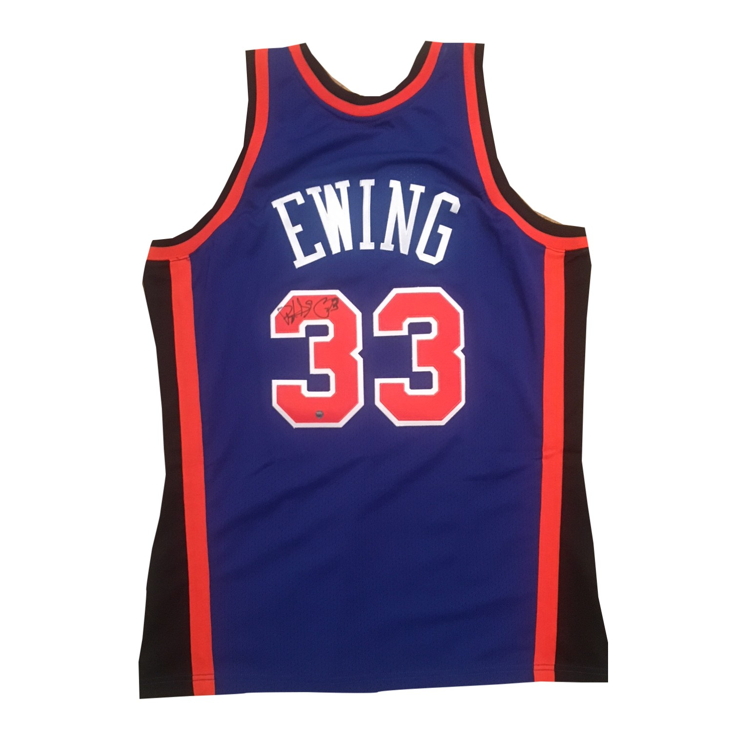 72522ce9b5ebf Patrick Ewing Autographed Knicks Signed Authentic Mitchell Ness Signed  Jersey Steiner Sports COA