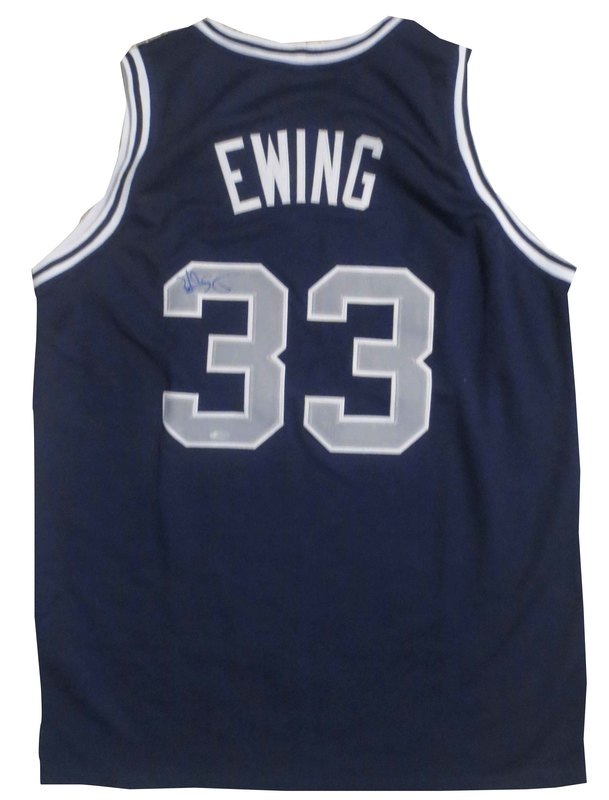 half off 3e836 9cc33 Patrick Ewing Signed Georgetown Jersey from Powers Autographs