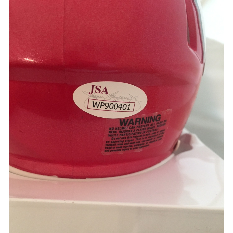 c5ed2fa52f0 Patrick Mahomes II Autographed Kansas City Chiefs Signed Football Mini  Helmet JSA COA