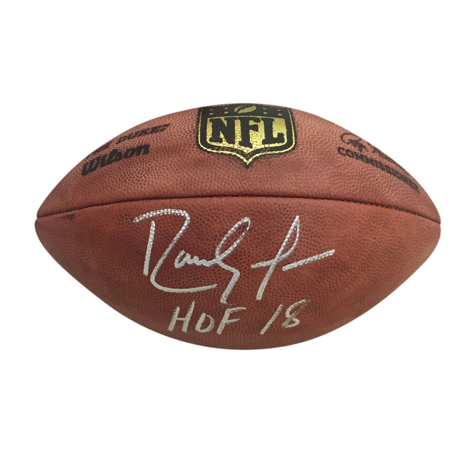 Randy Moss Autographed Minnesota Vikings Hall of Fame HOF 18 Signed NFL Authentic Duke Football Beckett BAS COA