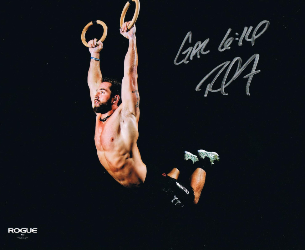 Rich Froning Autographed Crossfit Muscle Up Signed 8x10 Photo