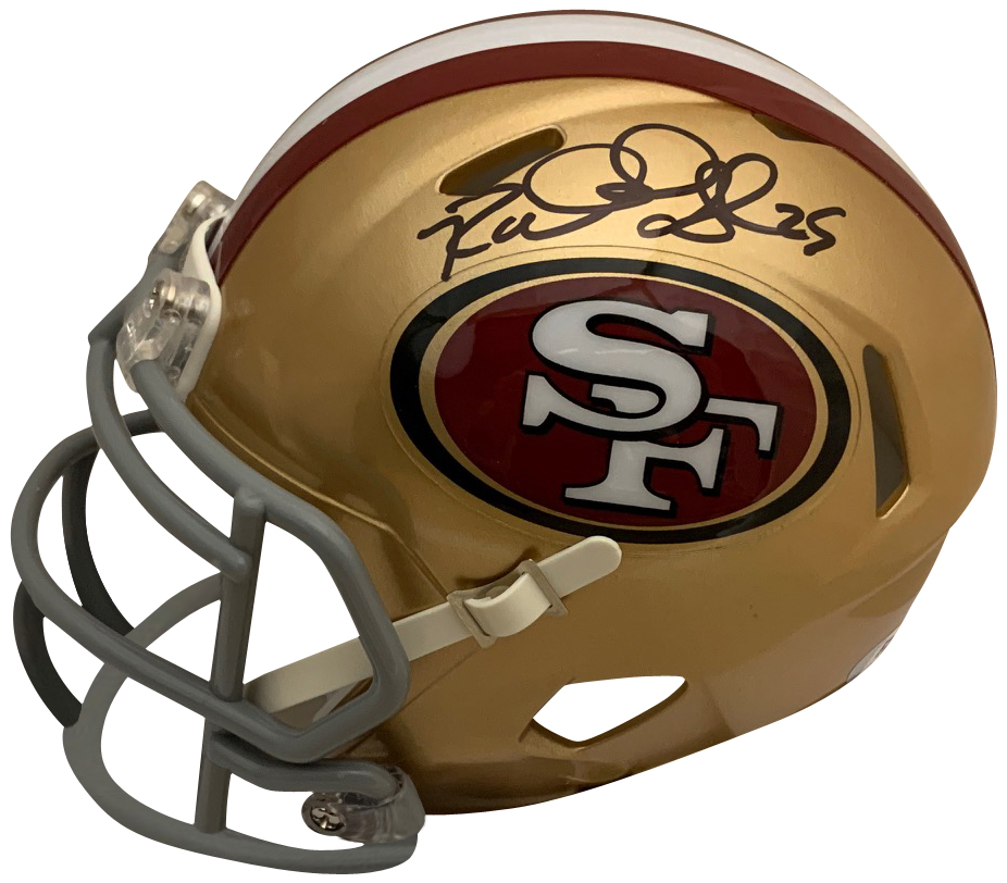 "Richard Sherman Autographed San Francisco 49ers NFL Signed Football Mini Helmet PSA DNA COA 1 49ers star cornerback Richard Sherman has autographed this officially licensed 49ers mini helmet. Mini helmets measure 6x5x4."" Autograph is authenticated by PSA/DNA, the world's leading authenticator of sports autographs. Comes with their unique sticker # fixed to the item and verified on their website. Also, comes with their certificate of authenticity with same matching #."