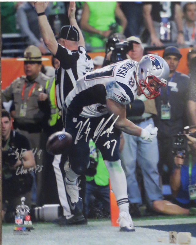 Rob Gronkowski Signed Spike 16x20 Photo from Powers Autographs