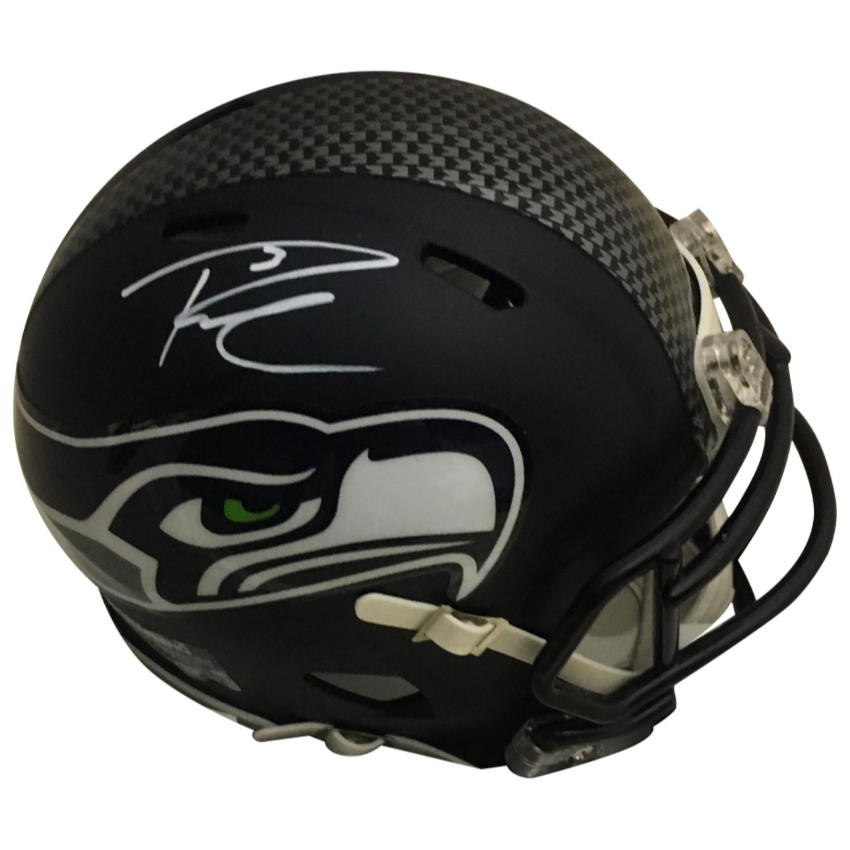 2be69dcef58 Russell Wilson Autographed Seattle Seahawks Signed Football Mini Helmet PSA  DNA COA