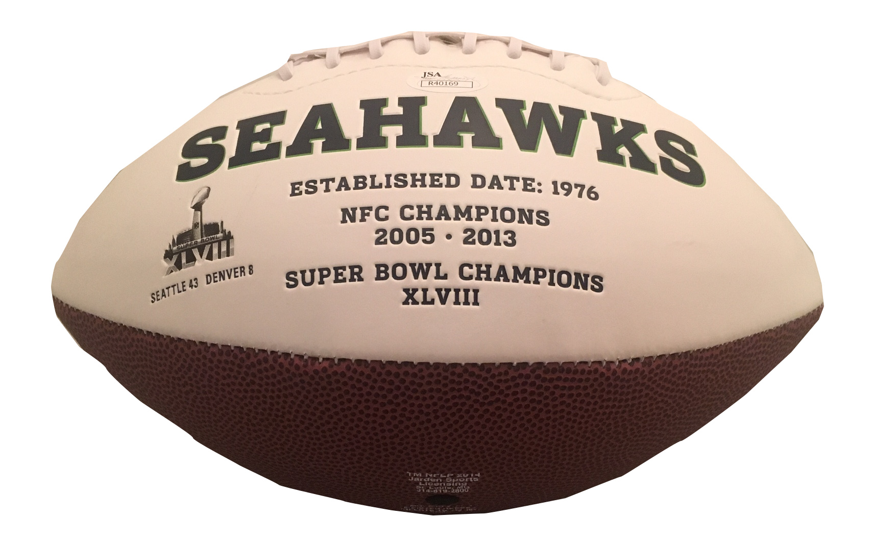 Russell Wilson Signed Seahawks Football from Powers Autographs