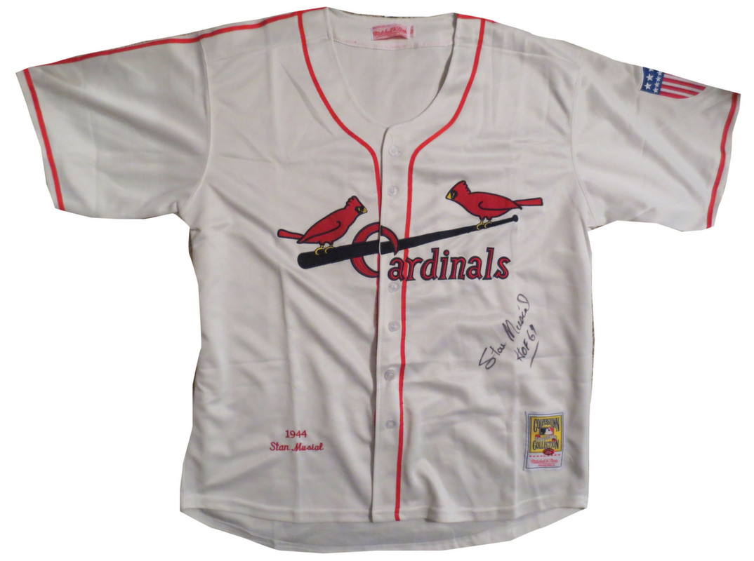 size 40 29d29 54bba Stan Musial Signed Jersey from Powers Autographs