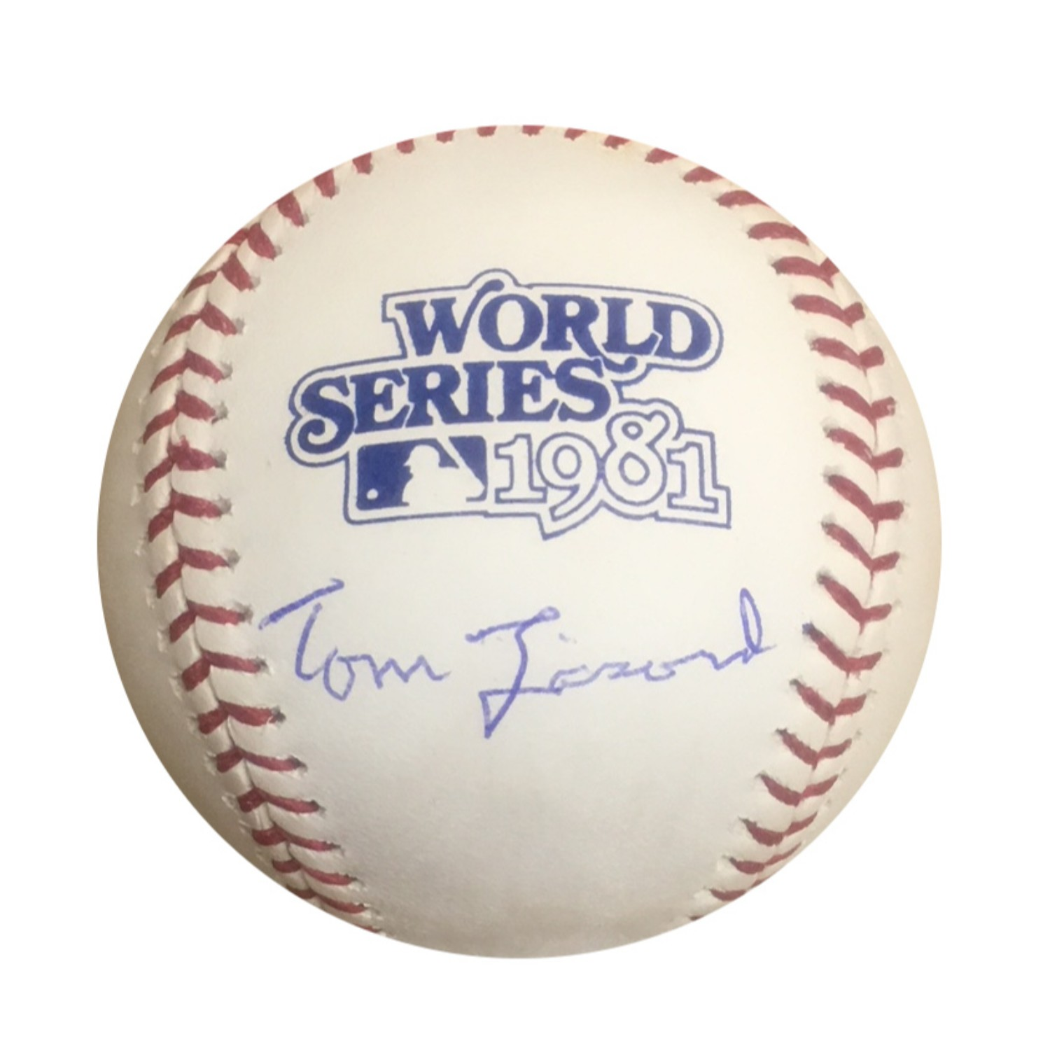 Tommy Lasorda Los Angeles Dodgers Autographed 1981 World Series Signed Baseball JSA COA