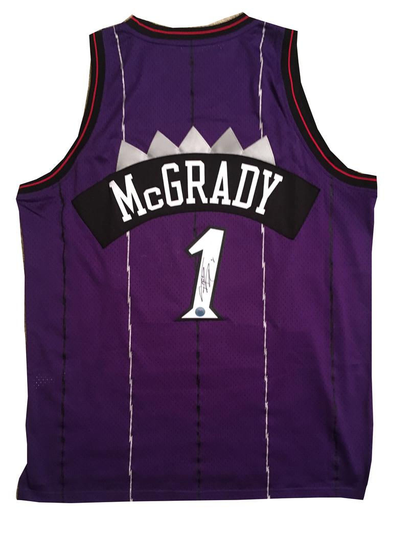 low priced 77404 905a2 Tracy McGrady Autographed Toronto Raptors Adidas Swingman ...