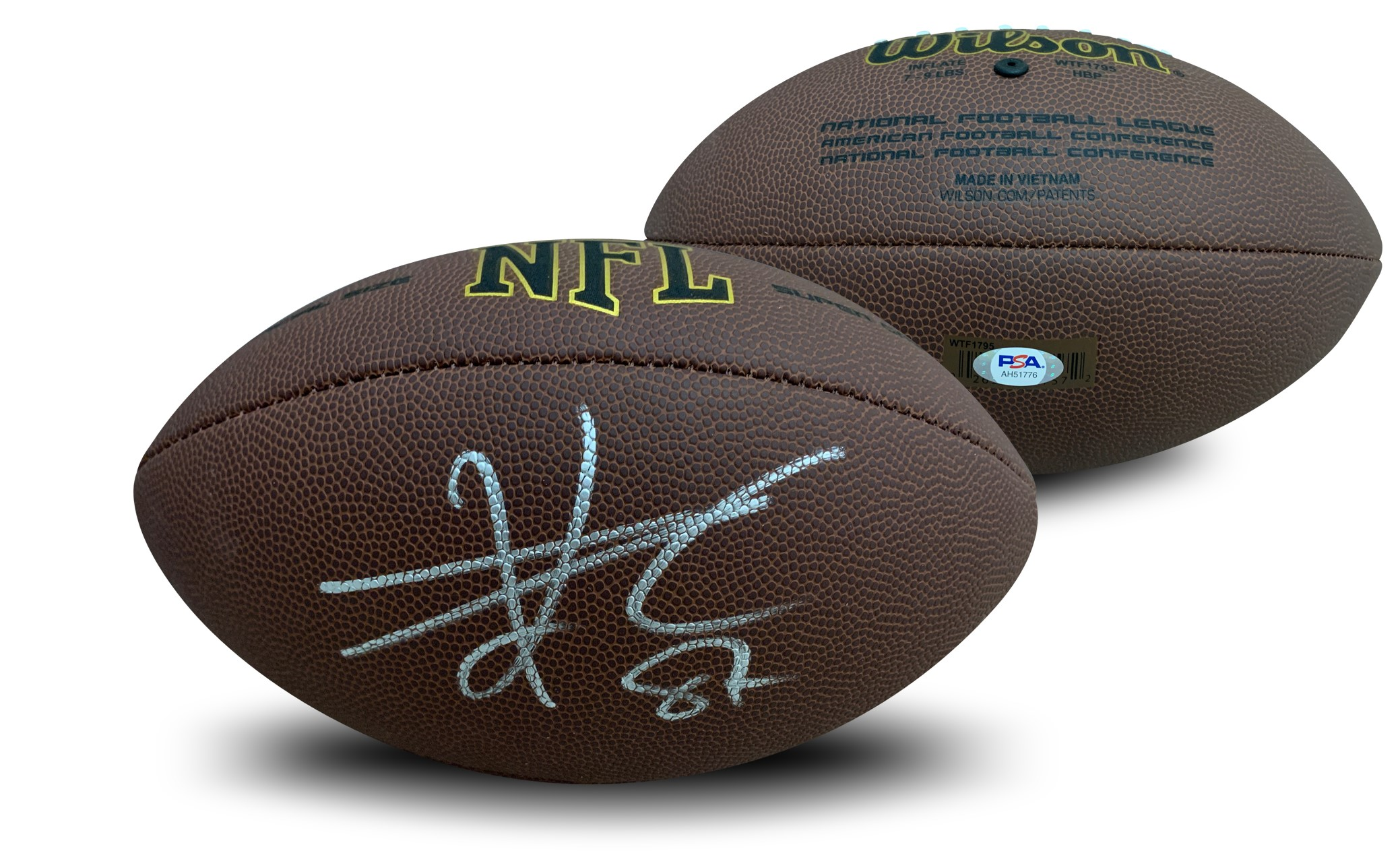 Travis Kelce Autographed Kansas City Chiefs Signed NFL Replica Full Size Football PSA DNA COA Kansas City Chiefs Super Bowl 54 champion Travis Kelce has autographed this officially licensed full size NFL replica football. Autograph is authenticated by PSA/DNA, the world's leading authenticator of sports autographs. Comes with their unique sticker # fixed to the item and verified on their website. Also, comes with their certificate of authenticity with same matching #.