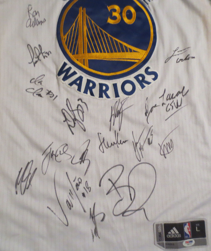 Golden State Warriors Autographed 2015-2016 73 Win Season Team Signed  Basketball Jersey Curry Klay Draymond PSA DNA COA 0cb99c49b