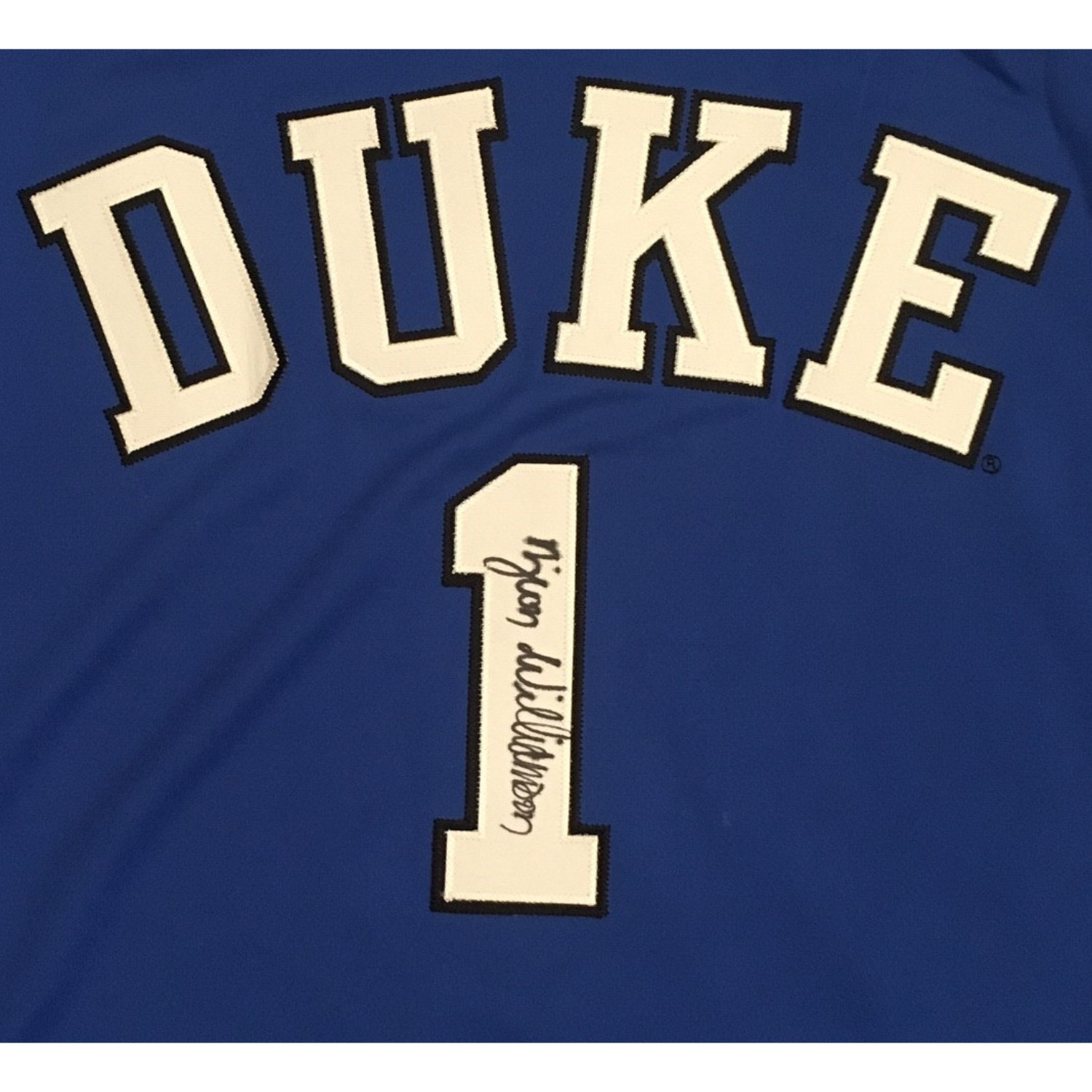 Zion Williamson Autographed Duke Blue Devils Signed Nike Basketball Jersey PSA DNA COA 3 Future NBA #1 Draft Pick and Duke Blue Devil Zion Williamson has autographed this officially licensed Duke Nike jersey. Name and numbers sewn on, size XL. Rare opportunity to get an item with his full signature. One of the most exciting and popular Duke players to come around in a long time. His autograph is in high demand! Don't miss out on this item. Autograph is authenticated by PSA/DNA, the world's leading authenticator of sports autographs. Comes with their unique sticker # fixed to the item and verified on their website. Also, comes with their certificate of authenticity with same matching #. Receive exact item shown.