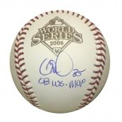 a88ee72d94c Cole Hamels Philadelphia Phillies Autographed 2008 World Series MVP Signed  Rawlings Baseball JSA COA