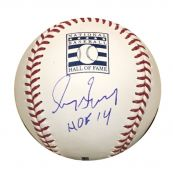 c6d1d927c34 Greg Maddux Atlanta Braves Autographed Hall of Fame HOF Logo Signed  Baseball JSA With UV Display Cas