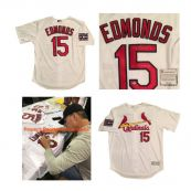 Jim Edmonds Autographed St Louis Cardinals Majestic 2006 World Series Signed  Baseball Jersey Schwart 2030e9741
